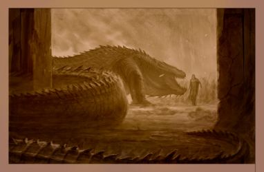 Turin confronts Glaurung by TurnerMohan