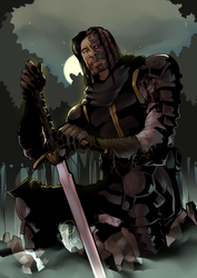 Song of Ice and Fire: Sandor Clegane by karniz