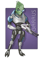 Garrus - Mission Ready with M-92 Mantis by jtrazbo