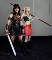 Xena and Gabrielle by echoing-artemis
