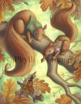 Squirrels in Autumn by Red-Clover
