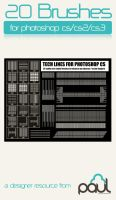 Tech Line Brushes by PAULW