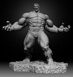 Hulk 1/4 non-produced statue by alterton