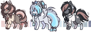 ADOPT : Chibi pones (closed) by D-Dyee