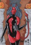 Hallowe'en 2 - Sketch Card 3 by ElainePerna