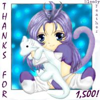 Thanks for 1,500 by BloodyFeather