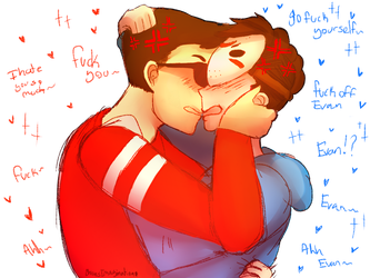 Angry kiss H2ovanoss (Tumblr request) by ChloesImagination