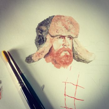 Mountain Man Study by TheWestIsNotDead