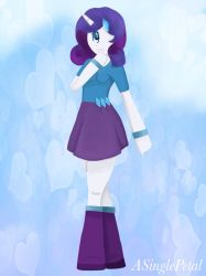 .: Mane 6 cyclops - Rarity :. by ASinglePetal