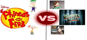 Phineas and Ferb VS Gravity Falls by spellcaster4