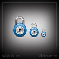Lock Icon by dellustrations