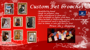Pet Brooches - Commissions open for Xmas presents! by Ishtar-Creations