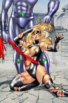 Ms Marvel defeated by NeoBabylon