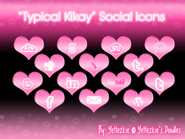 'Typical Kikay' Social Icons by yettezkiedoodle