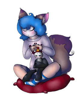 SumHotChocolate time with Plush and Shy(Pagedoll?) by GigiBatchilla