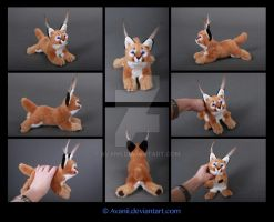 SOLD Plushie: Coskun the Caracal by Avanii