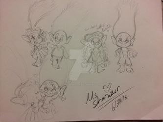 Poppy and Branch sketches by Ms-Sharazar