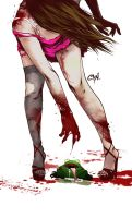 The Zombie And The Frog by cynthiafranca