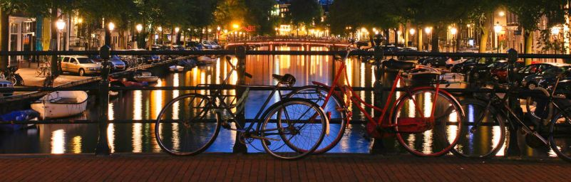 Amsterdam Canal at night by BusterBrownBB