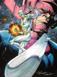 Silver Surfer and Galactus by ToddNauck