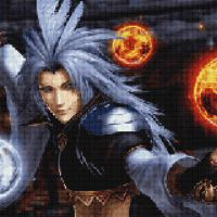 Kuja in Cross Stitch  by Sephikuji
