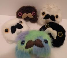 More mustached lumps ONTHESHOP by loveandasandwich