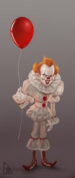 Pennywise the dancing clown by GioPinna