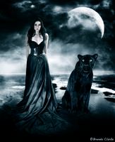 Diana - Goddess of the Moon and wild Animals by Inadesign