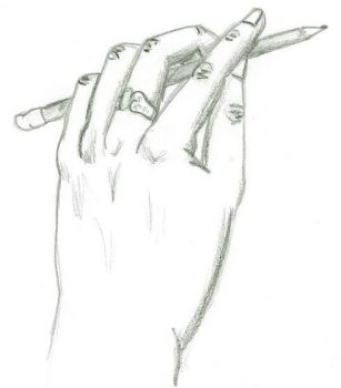 Drawing Hand by Zolena