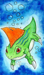 Betamon Waterolors by flying-cuttlefish