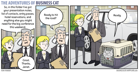 The Adventures of Business Cat - Road Trip by tomfonder