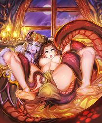 Boa Hancock and Alice by PsychoWolFFy Alt by Violet-Scales