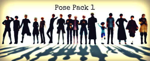 MMD BIG Pose Pack by EmD-Neko-Chan