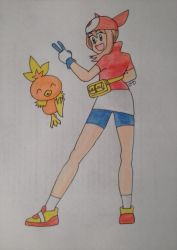May and Torchic by DashKnife-edge