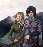 The Elf and Ranger by ViceralSiren