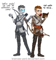 Loki and Atreus by Brancas-yard