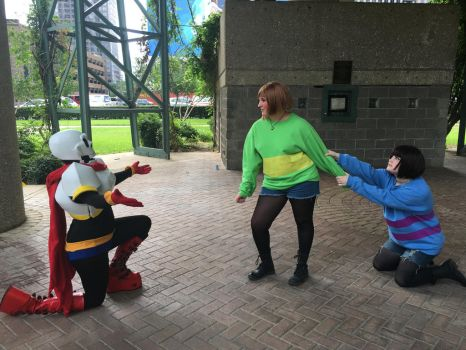 I'll spare you Human! (Undertale cosplay) by AlternianButterfly