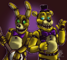 .:let's Sing:. Springbonnie and Fredbear by JuliArt15