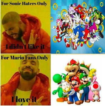 My opinions I love mario and I never like sonic. by Memy9909Haters