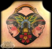 Traditional locket by state-of-art-tattoo