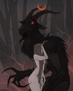 Drawlloween Goatman by IrenHorrors