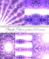 Violet Bokeh Photoshop Patterns by Coby17
