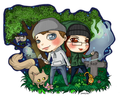 Ghost hunting party by Soozan