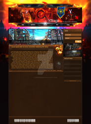 World of Warcraft - Web Design (unfinished) by CurseDesign