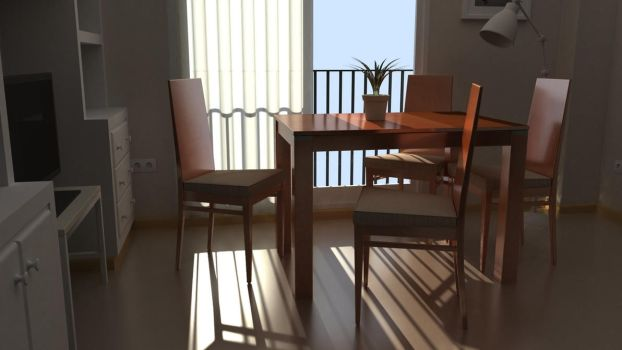 Table and chairs by Emigepa