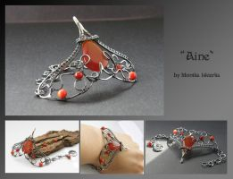 Aine- wire wrapped bracelet by mea00