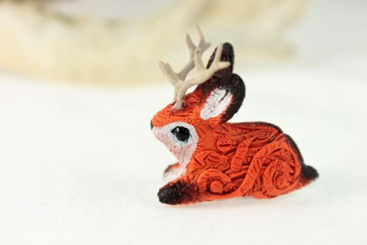 Red Jackalope by hontor
