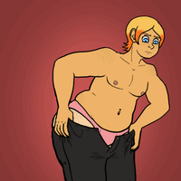 Struggle with pants (GIF) by TheStitchyHeart