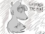 Grinner the fox! .:gift:. by Zelda-muffins