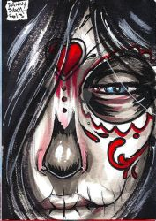 Day of the dead personal sketch card by dsilvabarred